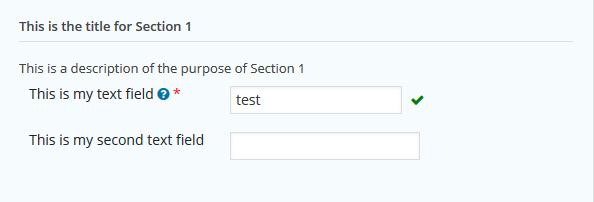 Text Fields Example