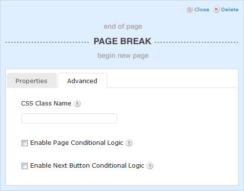 Page Break Advanced