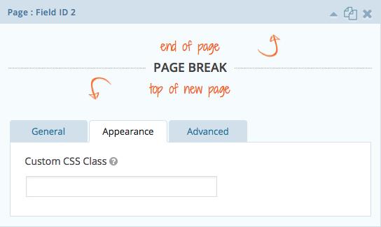 Page Break Appearance