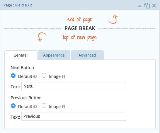 how to do a page break in docs