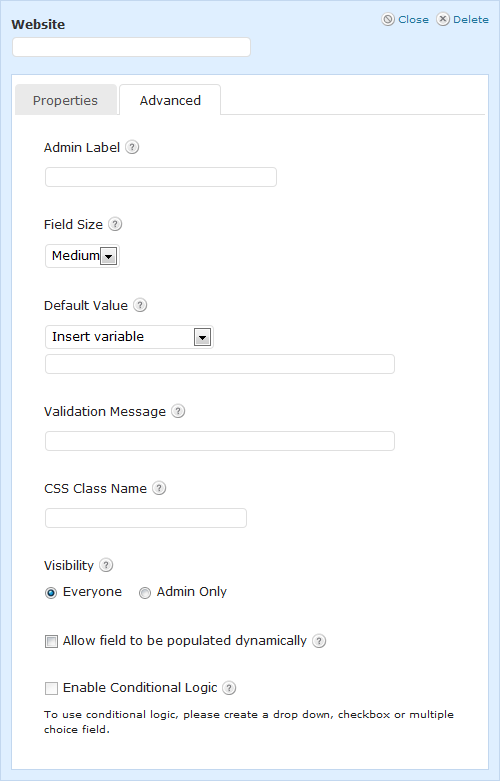 Website Advanced