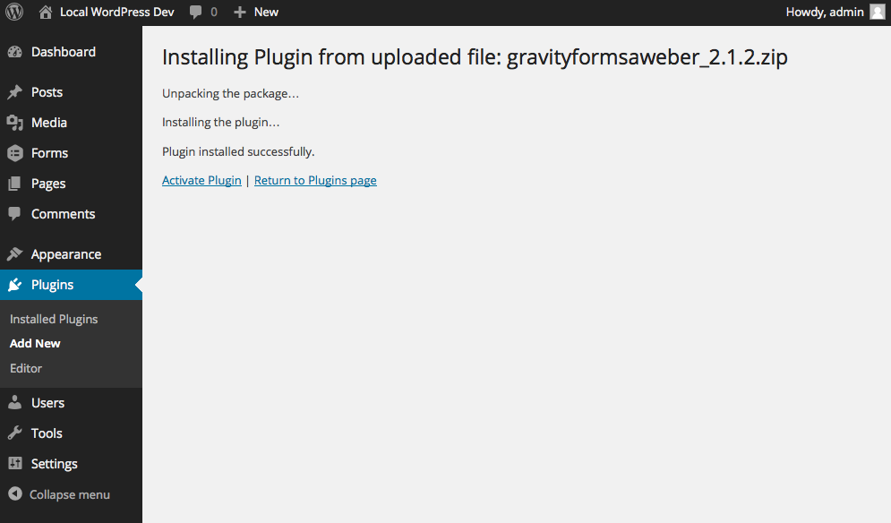 How To Install Gravity Forms Add-ons - Gravity Forms Documentation