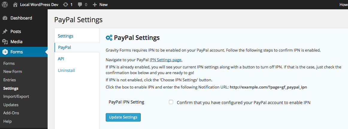 Setting Up Paypal Payments Standard Gravity Forms Documentation