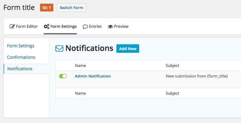 Bookmark BorderConfiguring Notifications In Gravity Forms