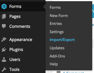 Exporting a Form - Gravity Forms Documentation
