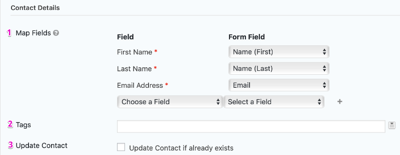 Agile CRM Feed Settings Page Create Contact