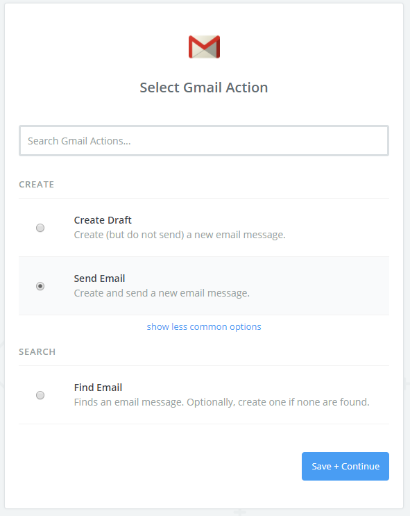 select action app