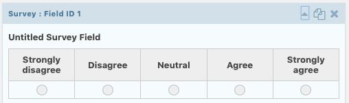 survey field in form editor