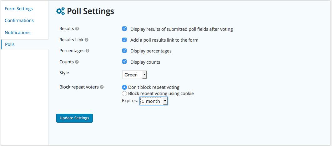 Poll Settings