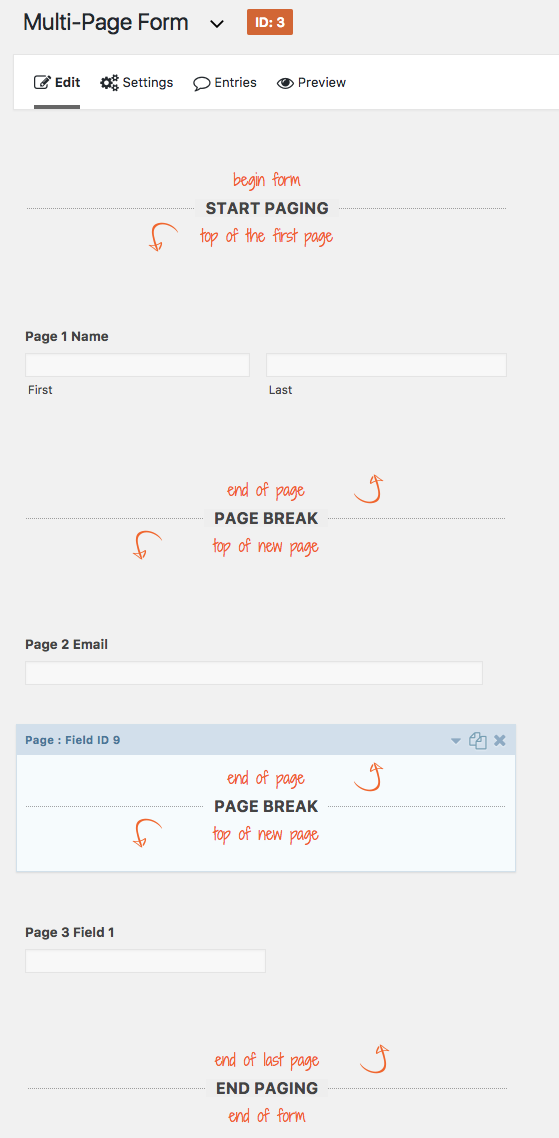 Creating Multi-Page Forms - Gravity Forms Documentation