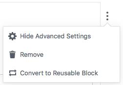 Reusable Block option