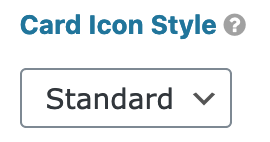 PayPal Field Card Icon Style Setting